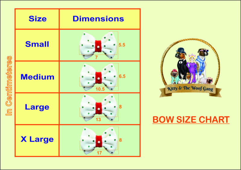 Size chart- Bow