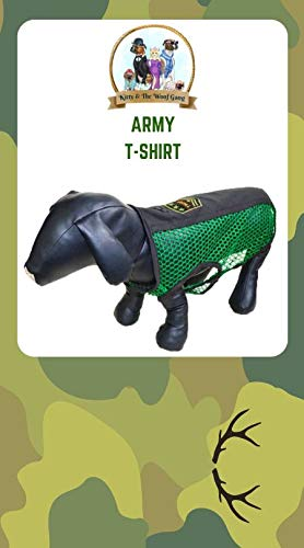 Green Net t-Shirt with Army Patch
