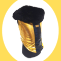 Gold Lycra Premium Winter Jacket - Coat with Black Lycra Strip