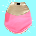 Pink Velvet Winter Dog Jacket with Silver Faux Leather