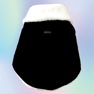 Black Velvet Winter Jacket With White Collar & White Soft Warm Lining | Dogs & Cats