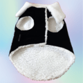 Black Velvet Winter Jacket With White Collar & White Soft Warm Lining   Dogs & Cats