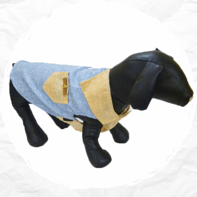 Linen Two Color Adjustable Shirt - For Dogs & Cats