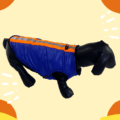 Waterproof Blue Winter Jacket With Reflector & Black Soft & Warm Lining | Dogs & Cats