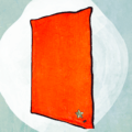 Very soft Orange Faux Fur Blanket - Mat - Rug with plain Black on the other side