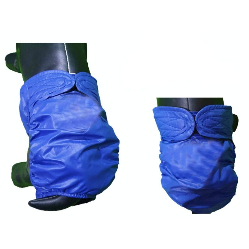 Blue Waterproof Heat Pant with Black Lining Handmade Washable & Reusable Dog Sanitary/Heat Pants for Female Dogs   Male Dogs with Health Issues