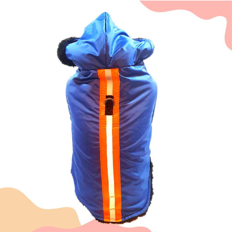 Blue Waterproof Hoodie Jacket With Reflector & D For Leash | Winter Wear For Dogs & Cats (Copy)