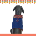 Denim Body Harness With Faux Leather Tassels For Dogs & Cats with a D - ring for Leash