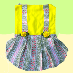 Bloomingdale - Dress For Dogs & Cat - Multicolor Pastel Dress With Floral Embellishments