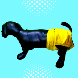yellow heat pant diaper dogs cats pets adjustable washable