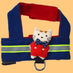 Denim Body Harness With Reflector & Cute Toy For Dogs & Cats with a D - ring for Leash